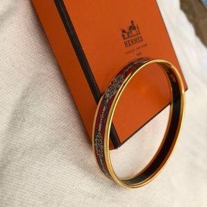 Vintage Hermes Gold enamel bangle